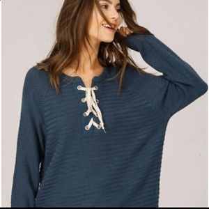 Sweaters - Lace up sweater